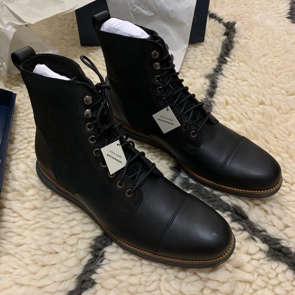 suitable for men/women 100% quality quality products Cole Haan: Mens Black Leather Boots NWT